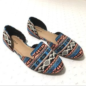 Torrid Aztec Pattern Flat Round Toe Slip On 11W